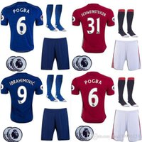 Wholesale best thai quality MancHESTER IBRAHIMOVIC Pogba jerseys AWAY BLUE ROONEY MEMPHIS MARTIAL unITED football SHIRT