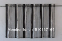 Wholesale Article in W x17in L attractive black and white yarn dyed curtain