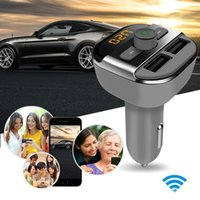 Wholesale New Dual A Cars Charger USB Bluetooth BT20 Blueteeth Hands free Car MP3