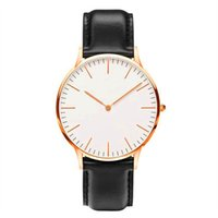 analog wedding bands - Luxury Brand D W Watch Fashion Style Men Women Unesex Leather Band Quartz Daniel Wristwatch Christmas Wedding Gift Watches