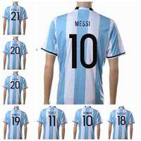 Thailand jersey soccer Baratos-Nº 10 Argentina 2016 17 camisetas de fútbol Top Shirts Hombres calidad de Tailandia fútbol equipos de fútbol Uniforme MESSI fútbol del equipo nacional