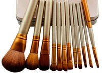 Cheap Makeup Tools Brushes Nude 12 piece Professional Brush sets Iron box Free epacket