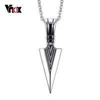 arrow gold necklace - 2016 NEW Arrow Shape Mens Pendants Necklaces Rock Punk Stainless Steel Pendant for Men Charms Jewelry Chain