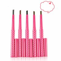 Wholesale 1 waterproof long lasting eyebrow pencil multicolor rotation eyebrow liner exquisite not dizzy catch for women beauty makeup
