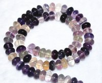 abacus gemstone - New Natural x8mm Multicolor Fluorite Abacus Gemstone Loose Beads quot