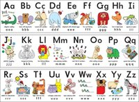 abc painting - A416 My ABC Alphabet Learn table Art Silk Poster x36inch