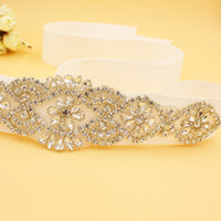 Wholesale Crystal Rhinestone Beading Wedding Bridal Dress Belt Cummerbunds Sash Waistband Girdle Accessories CPA530