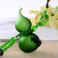 Wholesale Delicate small gourd cute colorful toy pendant for car home decorate small gift to friends to safe drive