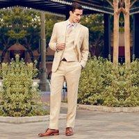 Wholesale Groom Tuxedos Groomsmen Custom Made Slim Fit Best Man Suit Wedding Prom Party Men s Suits Formal Bridegroom Clothing Jacket Pants Tie Vest