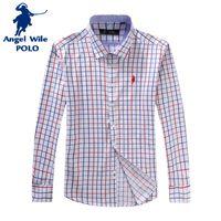 Wholesale 2016 High Quality New arrive Men s pure cotton Shirt Long sleeve Shirt men For Casual Mens Plaid Shirts Man dress shirts