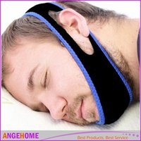 Wholesale Anti Snoring Chin Strap Stop Snoring Belt Anti Snore Chin Jaw To Sleep Supporter Apnea Belt For Woman Man Care Sleeping Tools