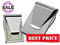 Wholesale 200pcs New Slim Clips Unisex Men Women Double Side Money Cash Card Clips Free Fedex Shipping
