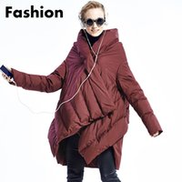 bats hoods - Cape Cloak Jacket White Duck Down Parkas Women Winter Coat Hood Removable A LIne Jackets Thicken Warm Outdoor Overcoat Fashion