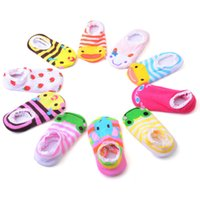 Wholesale Children s baby ship socks Full cotton toddler non slip floor socks