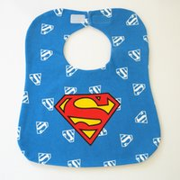 Wholesale New Cartoon Cotton Baby Waterproof Bibs Infant Burp Cloths Newborn Superhero TPU environmental protection waterproof Towels