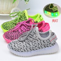 Wholesale 2017 Hot Sale LED Light Kids Shoes For Boys Girls Causal Running Shoes Fashion Children Coconut Shoes Sporting Shoes