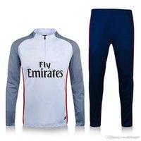 Wholesale Top quality Paris white Player Version Training suit Paris Men sport wear Training Soccer suit T SILVA VERRATTI LUCAS Soccer sets
