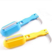 Wholesale Stainless Steel Fish Scale Scrape Shaver Remover Cleaner Descaler Skinner Scaler Knife for Cleaning Fish
