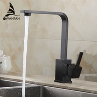 Wholesale Polished Black Brass Swivel Kitchen Sinks Faucet degree rotating Kitchen Mixer Tap GYD R