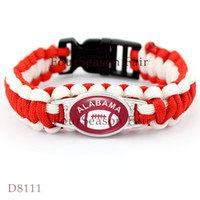 alabama state sports - ALABAMA State Football Paracord Sports Team Bracelet Alabama Survaval Parachute Rope Bracelet Outdoor Camping Bangles Gift Drop Shipping