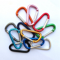 Wholesale In Stock Carabiner Ring Keyrings Key Chain Outdoor Sports Camp Snap Clip Hook Keychains Hiking Aluminum Metal Stainless Steel Hiking Camping