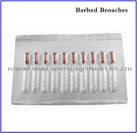 Wholesale 10Packs VIMEL Dental Endodontic Files Root Canal Short Barbed Broaches mm Red