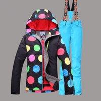 Wholesale Fashion Ski Suit Women Snowboard Super Warm Windproof Waterproof Ski Jacket Pants Female Winter Thicken Suit Set New Style