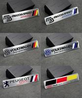 Wholesale 120x26mm Car Aluminum Alloy MS Mazdaspeed VW P sport Badge Sticker Emblem Decal Sticker car sticker