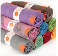 Wholesale Yogitoes eco silicone yoga towel yoga blanket Rainbow