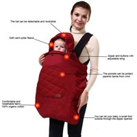 backpacks sleeping bags - Bebear Newborn Baby Blanket Baby Backpack Carrier Cover For Newborns Winter Infants Swaddle Blanket Decke Fleece Sleeping Bag