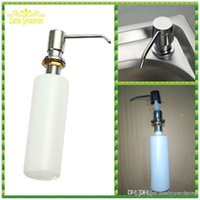 Wholesale New Kitchen Bath Soap Dispenser Handsfree Plastic Stainless Steel Sink Liquid Pump Liquid Soap Holder Saboneteira