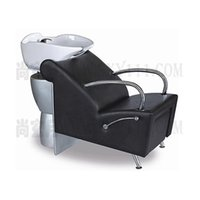 Wholesale shampoo bed salon furniture comfortable salon hairwashing bed black leather comfortable shampoo bed