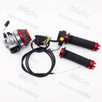 air carburetor - Racing Carburetor Carb Air Filter Throttle Grips Cable Switch For cc cc cc Motorized Bicycle Motorcycle
