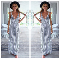 Wholesale Wrap Long Strap Party Dress Womens Ladies Sexy Maxi V Neck Wrap Long Strap Party Dress Formal Prom Backless Dress Celebrities Party