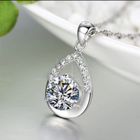 Wholesale 925 sterling silver jewelry fashion star with silver pendant necklace item ornaments belief Valentine s Day to send his