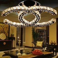 Wholesale Crystal Led pendant light led Chandeliers w w w led ceiling chandelier lights fixtures lamp AC110 V silver wall mount led lights