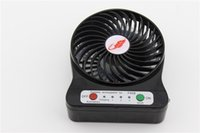 Wholesale Home mini Protable Fan Rechargable Table Fan LED Light Battery Adjustable Speeds F95B Colorful Mini Fans Outdoor Indoor Fans