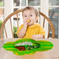 Wholesale quality and durable silicone baby Placemat and Plate Suction Plate Tray Self Suction waterproof placement for Kids Babies