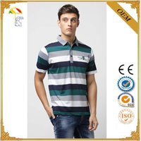 Wholesale 2016 fashion men clothing striped yarn dyed man brand polo t shirts printing designs