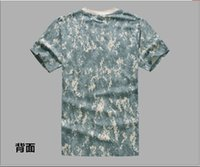 Wholesale Camouflage T Shirt men Tee shirt Femme Fashion Cotton T shirt Army Green Sport Clothing Top Tees T Shirt Military