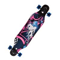 Wholesale 41 quot Longboard Skateboard Cruiser Through downhill Complete Ship Free