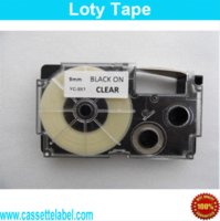 Wholesale 9mm Compatible CASIO label tapes XR WE1 XR X1 XR YW1 XR RD1 XR GN1 XR BU1 XR WER1 XR GD1 XR SR1 printer Ribbons