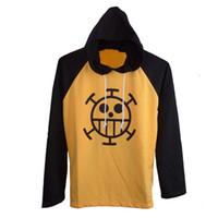 animations sweaters - Animation cosplay One Piece Trafalgar Law D トラファルガー D ワーテル ロー CSOPALY clothes Surgeons Gallo Casual long sleeved sweater