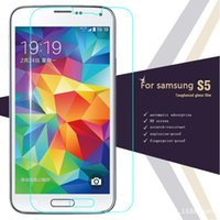 Wholesale 2 d HD mm ultra thin For samsung galaxy S5 Tempered Glass Anti Shatter Screen Cover Protector protective Film