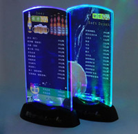 acrylic menu display - AAA battery USB charger Led Table Menu Display Table illuminated Led Menu Led Acrylic Menu Stand Holder Coffee Shop Bar KTV Night Club