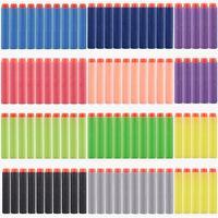 Wholesale 100 cm cm Soft Bullet Kid Toy Gun Refill Darts for Nerf N strike Elite Series Blasters Mix Colors