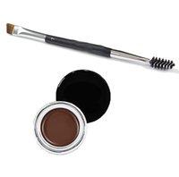 Wholesale Eye brow Pomade Duo Brush Medium Brown Waterproof Eyebrow High Quality Eyebrow Enhancers