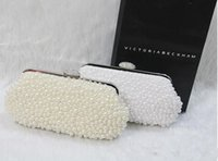 beaded hobo bag - 2015 Desinger Pearl Crystal Bridal Hand Bags Bridal Accessory Womens Evening Wedding Party Clutch Bag In Stock White Ivory
