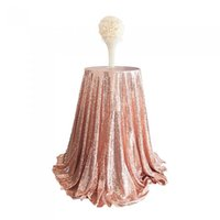 Wholesale sequience table cloth m round