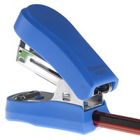 Wholesale 2016 New Students In The School Office MINI Stapler Built In Sharpener Pages Red Blue GreenWith Stitching Needle